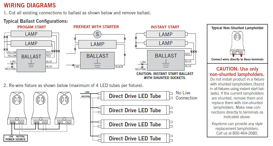 keystone direct drive wiring?resize\=665%2C357 how to replace a ballast in a fluorescent light fluorescent light magnetic ballast wiring diagram at soozxer.org