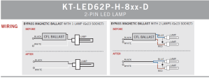 Keystone 6W Horizontal LED PL KTLED62PH8xxD 2 Pin CFL Replacement