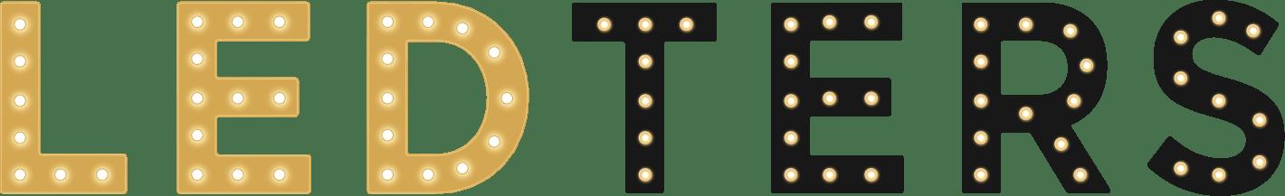 ledters logo lichtletters verhuur
