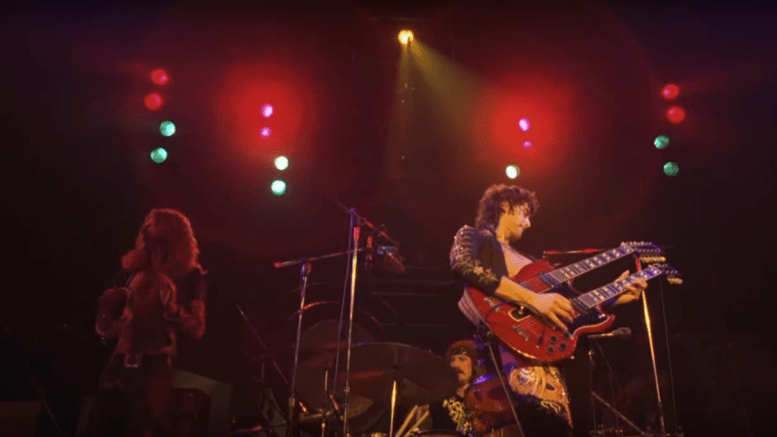 A previously unheard recording of Led Zeppelin performing in