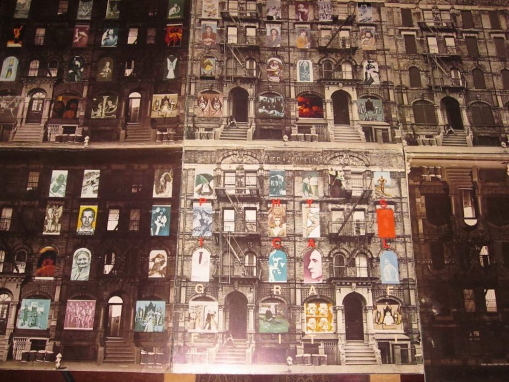 "Dave Lewis' original proof cover of ""Physical Graffiti"""