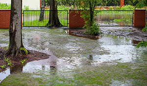 bad drainage damages foundation in DFW