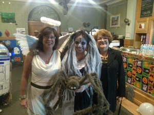 Pictured with author Lee Bice-Matheson and ghostly tour guide Terri Rossiter