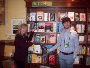 Lee and J.R. point out Canadian author Margaret Atwood and Paulo Coehlo's books. :) Two family favs.