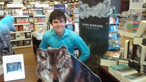 J.R. Matheson is entertaining and wonderful to work with at the book signings. One very proud Mom!