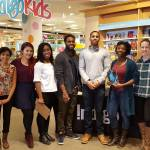 Author of For Black Girls at Indigo Yorkdale photographed with her team.