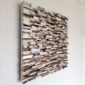 Mirrored Wall Sculpture