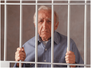 Picture of a person behind the bars