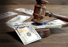 image with money and justice