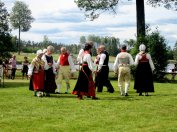 Local folk dancers