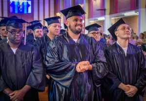 Lee College graduation at Wynne Unit in Huntsville, TX, 06-10-17