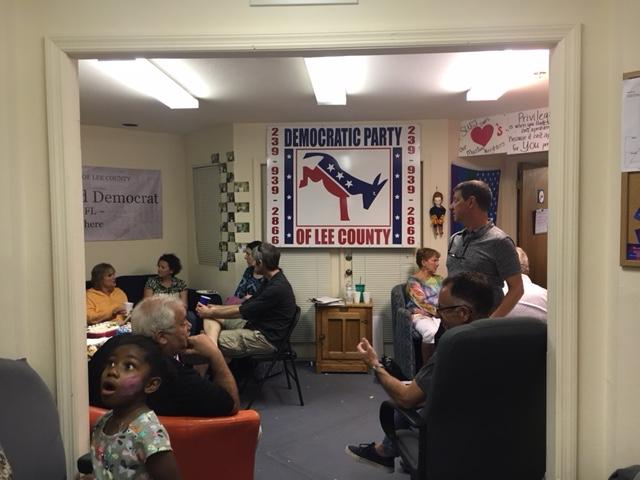 Pot Luck at Democratic Party of Lee County office.