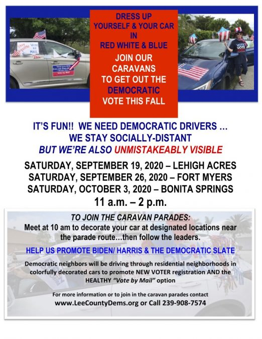 Join Our Caravans to Get Out the Democratic Vote this Fall