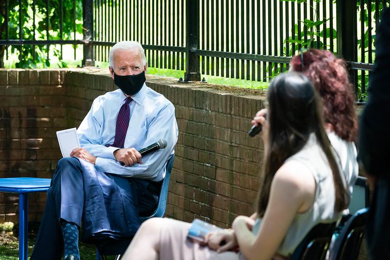 Joe Biden listens to peoples' stories!