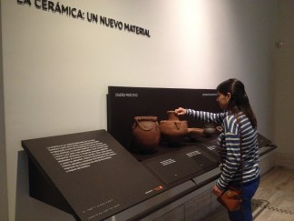 Touch station with replicas at the Museo Arqueológico Nacional, Madrid, España
