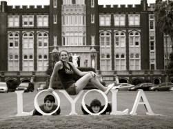 sam, mac & dear friend nik at loyola
