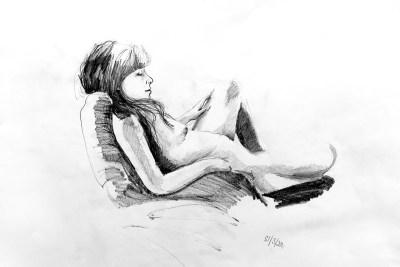Leeds Life Drawing Exhibition 2012, by Ellie Halls Schiadas