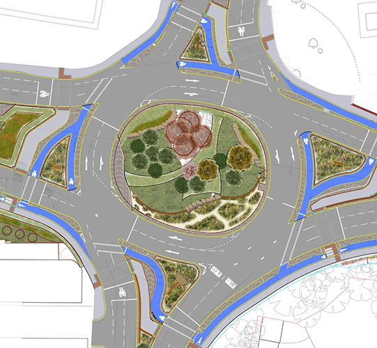 Plan for Moortown Roundabout