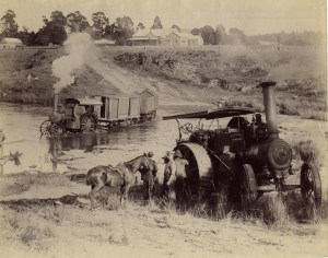 A Fowler traction engines being used during the Boer War