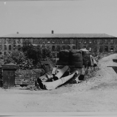 Armley Mills with wool bales c1950s or 60s