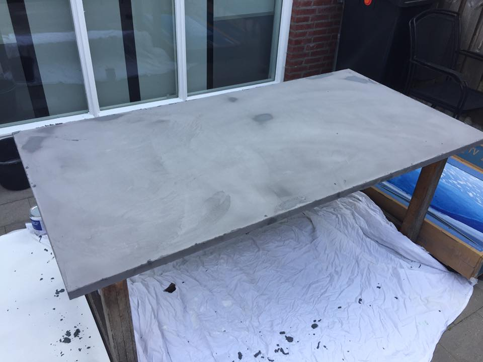 Betonlook tafel u leef beton tafelblad leef beton
