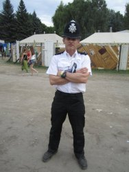 PC Rigsby from the Avon & Somerset Constabulary at Sziget