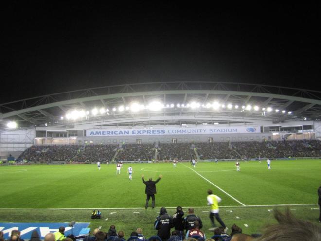 Sam Allardyce, West Ham manager, Brighton's Amex Stadium