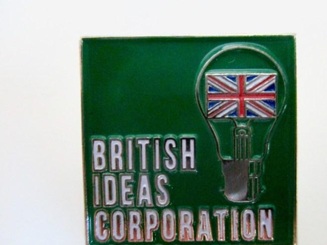 British Ideas Corporation pin badge