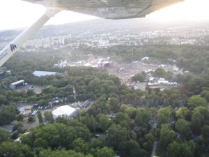 Sziget festival from the air, 2011