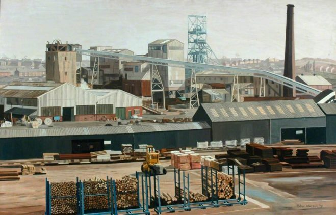Kiveton Park colliery, a painting by Peter Watson