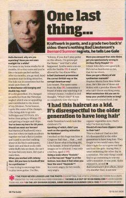 2009 interview with Bernard Sumner