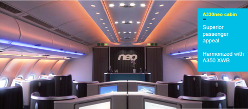 A330neo business cabin