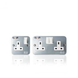 Metal Clad Switch Socket 13Amp (Single, Double)