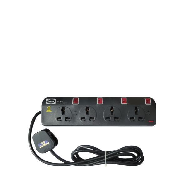LEMAX Multi Extension Socket w/ Neon & Surge Protector (3, 4, 5 Gang)