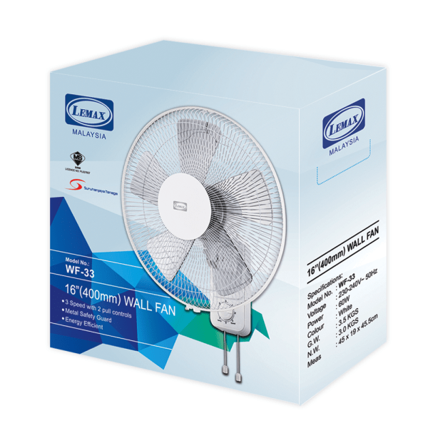 LEMAX Wall Fan Packing WF-33