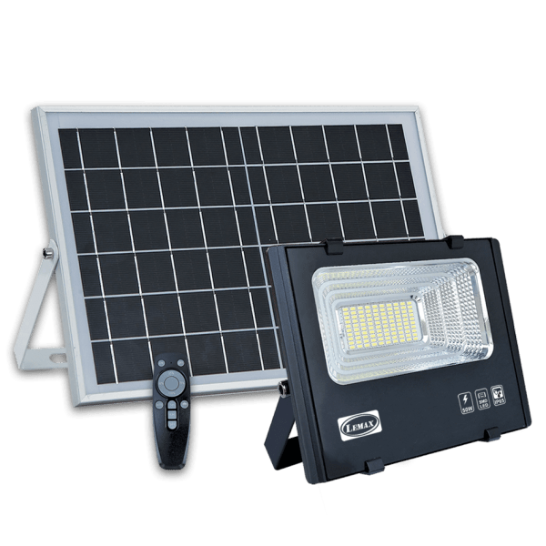 LEMAX Solar LED Flood Light SOL-50 (With Solar Panel)