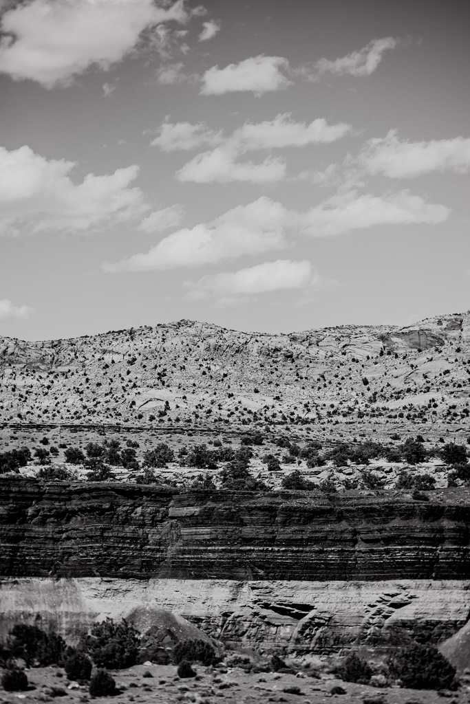 arizona landscape black and white mountain desert art