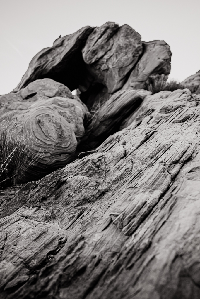 black and white rock photography logandale trail