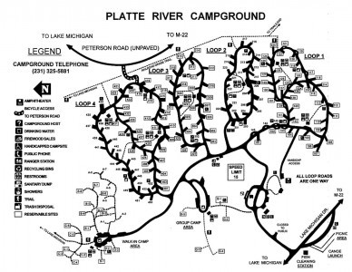 Platte River Campground map