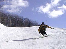 Snowboarder on Devil's Elbow .... 1990-something