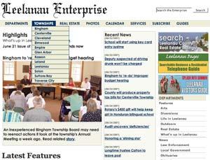 Leelanau Enterprise Screen Shot