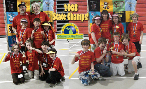 2008 Odyssey of the Mind state champs!