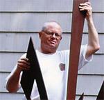 Metal sculptor Bob Purvis