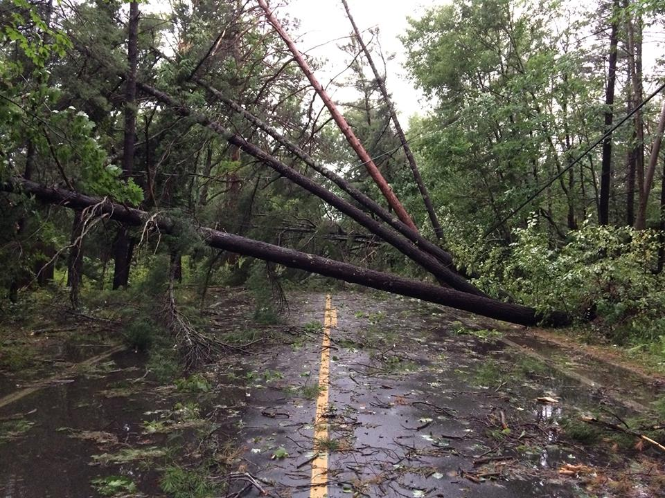Storm Packing 100 MPH Winds Rips Glen Arbor