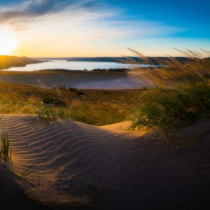 Morning on the Sleeping Bear Dunes