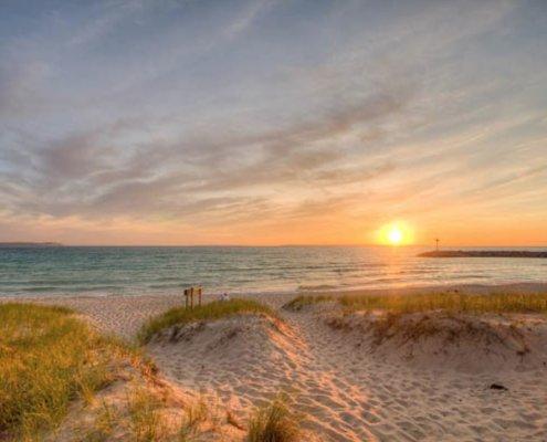 Public Beach Access in Leland, Michigan