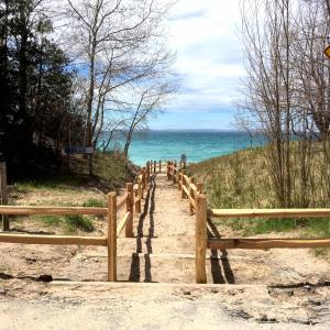 Leelanau X-Files: Split Rail Reality at South Beach in Leland