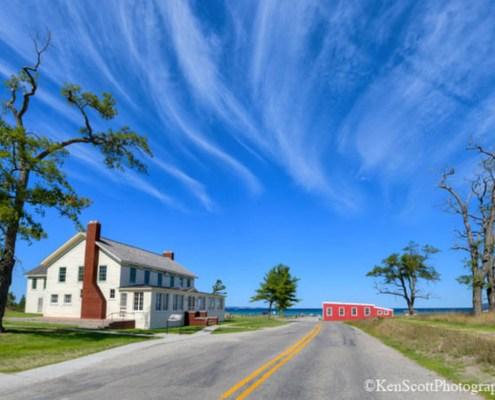 Glen Haven ... horsetail clouds kinda day by Ken Scott Photography