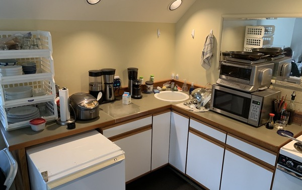 small kitchen of the guest house