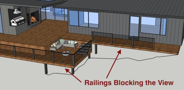stairs or railings